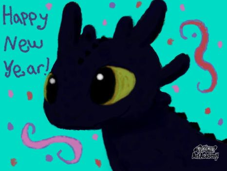{{OLD}} Toothless,Victim of my 1st Digital Attempt by Draggirlmon