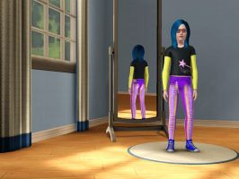 Sims 3 Equestria Girls - Young Indigo Zap pic 1 by Magic-Kristina-KW
