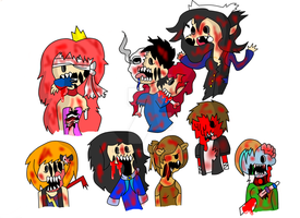Adventure time oc zombies by ask-kytothehero