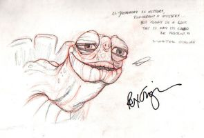 Master Oogway Signed by Rex!! by adrians-angel