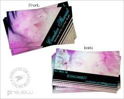 Biz cards for Candice by ZeROgraphic