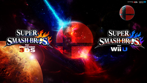 Super Smash Bros. Wii U/3DS Logo Wallpaper #100! by TheWolfBunny