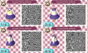 Animal Crossing Corpse Party girls uniform by GrapeYouInTheMouth