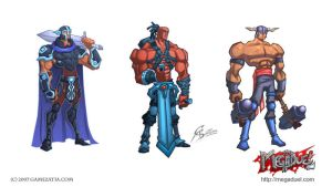 Megaduel characters by GS-Dracko