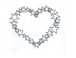 Star Heart Tattoo by average-sensation