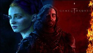 Sansa and The Hound Wallpaper by Mick81