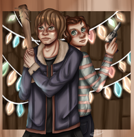 Stranger things - Jonathan and Nancy by pvdin