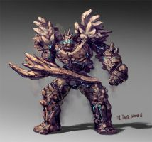Rock monster design for game by Ling-z