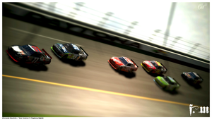 NASCAR - Drafting Battle by vanheart