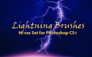 Lightning Strikes-PS Brushes by fiftyfivepixels