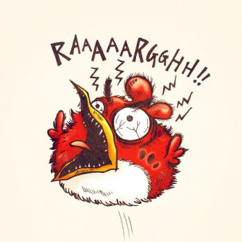 one very angry bird by cecilliahidayat