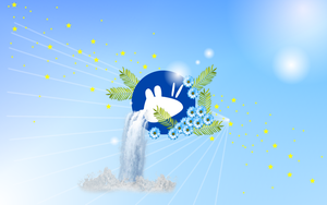 Xubuntu Star Waterfall by FabioMorales9999