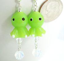 Lime Green Octopuses by SpottedOctopus