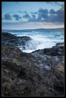 Godrevy Rocks and Surf by Wivelrod