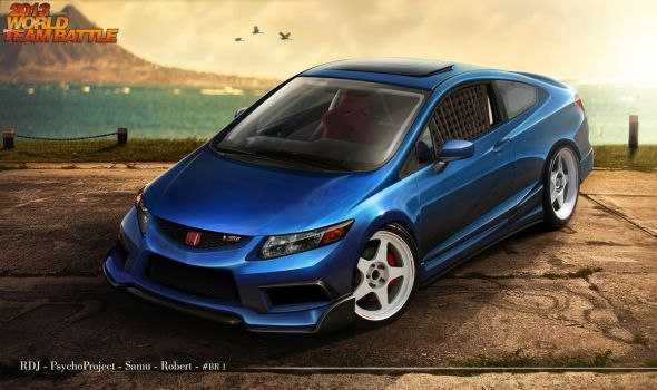 Honda Civic SI 2013 - Team Brazil 1 by RDJDesign