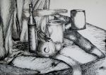 Still life in ink by Zuza22