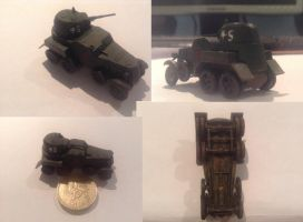 Zvezda 1/100 scale ab10 Heavy Armoured Car COLLAGE by Get2daChoppa
