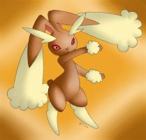 Lopunny. The cute Rabbit by Sceifrevan