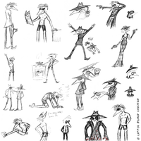 Spy vs Spy trashy sketches by Little-Blind-Chicken