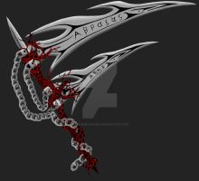 Arkhyle's Scythes by CarusimaHikura