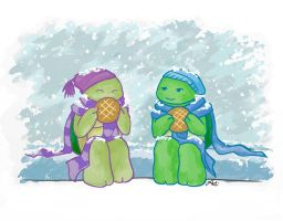 TMNT: Snow by Mosrael-the-Waker