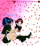 happy Valentines day.{Iori and Leona} by JedahDohmaPC