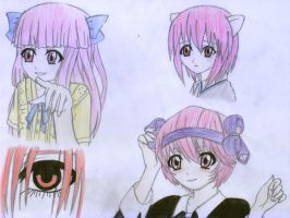 Elfen Lied - Diclonius by AngelKatie1991