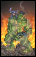 HULK vs STITCH by Artilleria