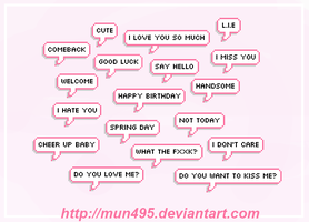 // SHARE // 18 PNG - Speech Bubble by mun495