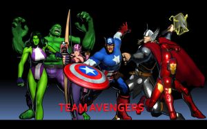 Team Avengers by thereanimatedunknown