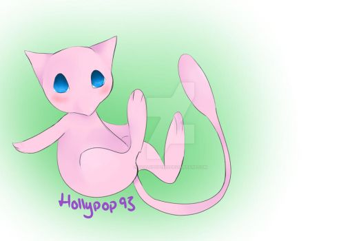 Mew Sketch-Coloured by Hollypop1993