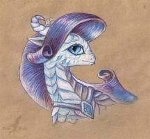 Rarity dragoness by AlviaAlcedo