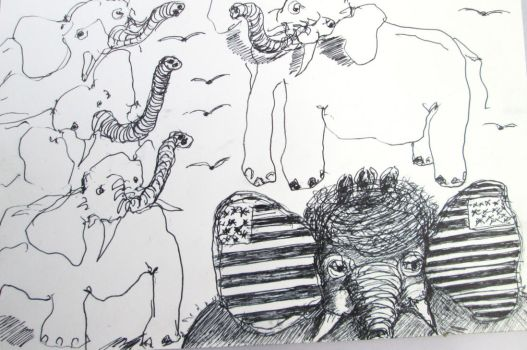 Elephants Trumpeting an American Bird Brain by DVanDyk
