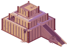 Mesopotamian Inspired Pixel Building by UnknownSpy