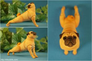 Pug Bjd Doll Dog 02 by leo3dmodels