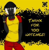 Thanks for 400 watches! by Project-Drow
