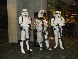 StormTroopers and a Clone Trooper by SupernaturalSpirit15