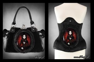 Red Doll Handbag and Belt by Euflonica