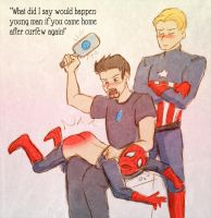 SuperFamily Spanking by Arkham-Insanity