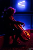 Nighttime cello by Anna-April