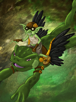 Mr. Goblin and Mutant Flying Frog by FurryWorld101