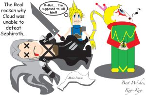 Kefka poisons Sephiroth by IMKerrusin