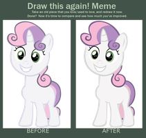 Draw This Again Meme - Sweetie Belle Vector by Coolez