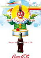 Coca-Cola Clown Poster by Coca-Cola-ArtGallery