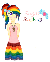 Sugar Rush's Gala Dress~Human Form by JewelThePonyLover12