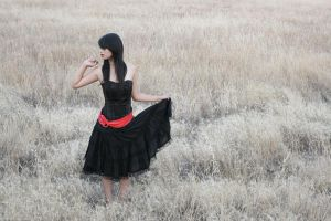 Girl Stock 2 in Field by AiSac