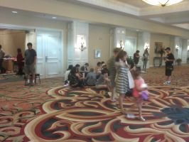 Lobby when I got there at 9:00 AM by BlackFoxFurry7