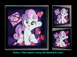 12 x 12 Sweetie Belle Shadowbox by The-Paper-Pony