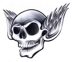 Skull on wings by jerrrroen