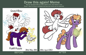 Draw This Again Meme - Sound Blow and Fluff Puzzle by Perrydotto